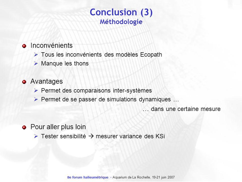 Conclusion (3) Méthodologie