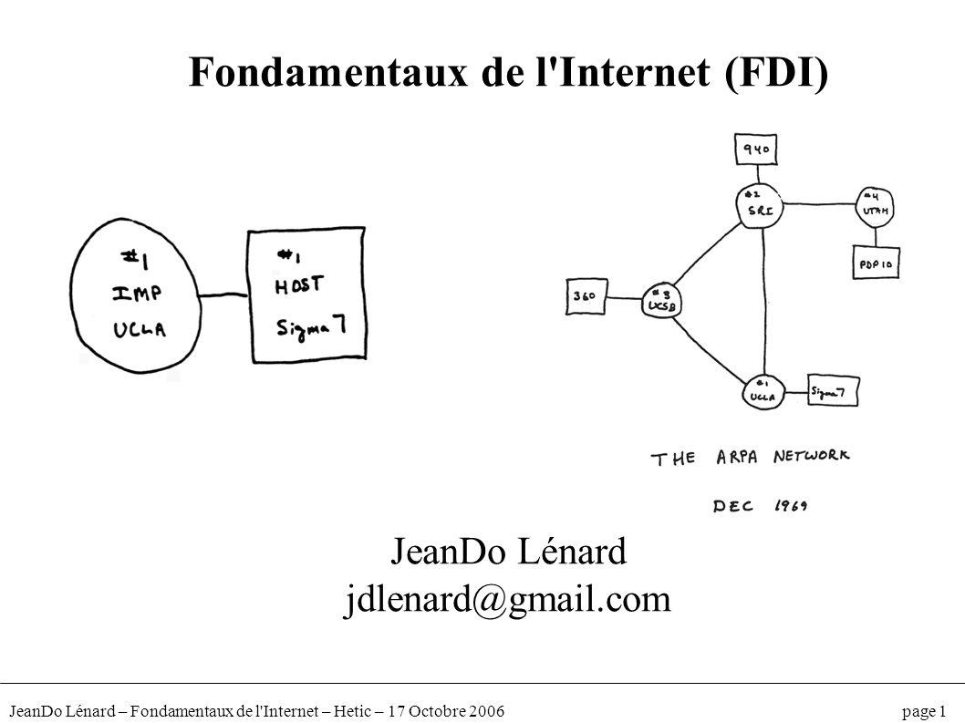 Fondamentaux de l Internet (FDI)