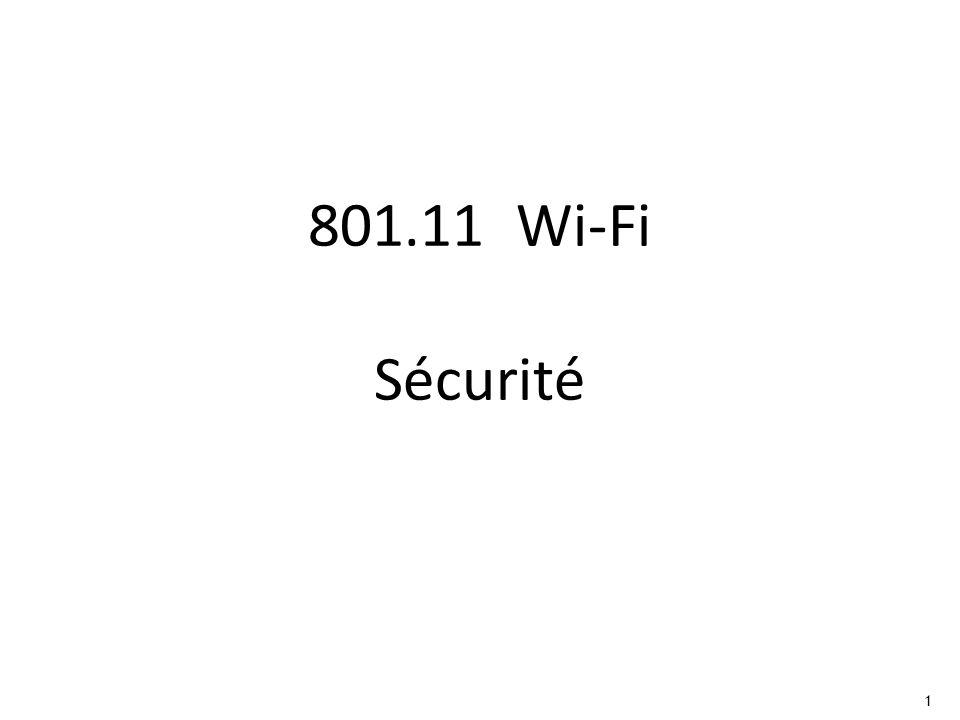 801.11 Wi-Fi Sécurité