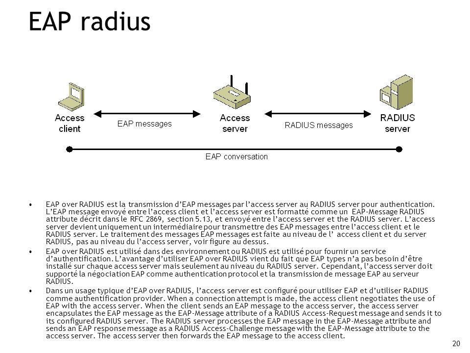 EAP radius