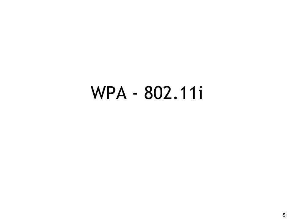 WPA - 802.11i