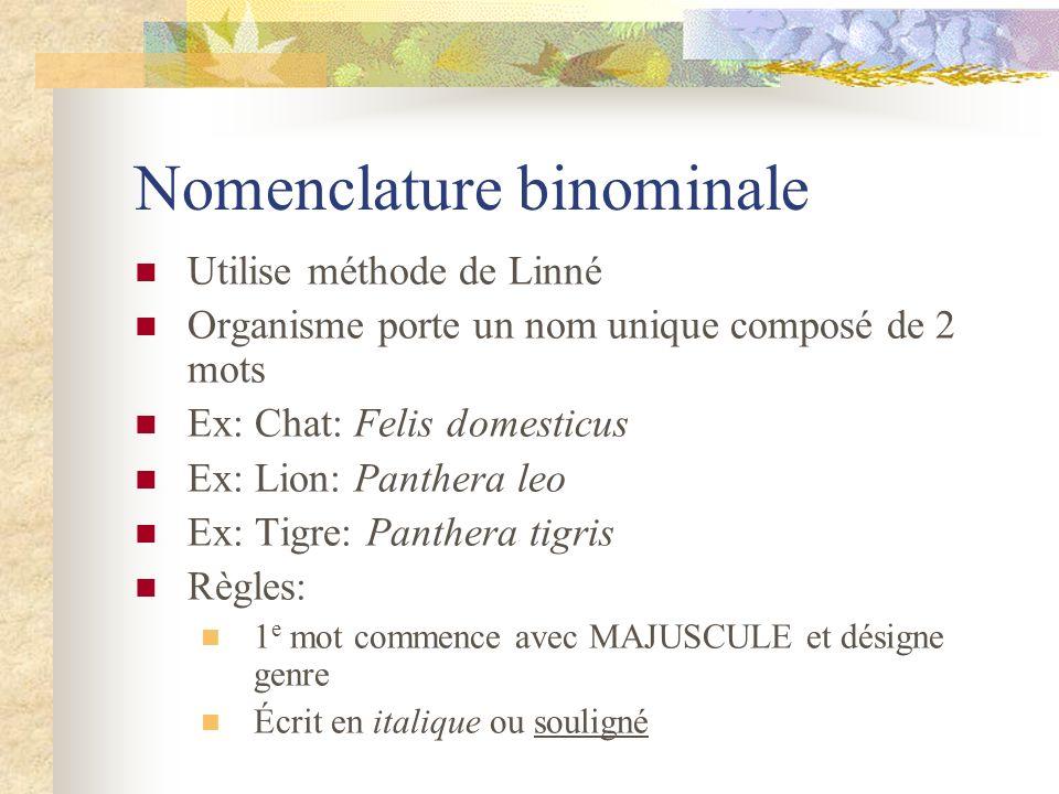 Nomenclature binominale