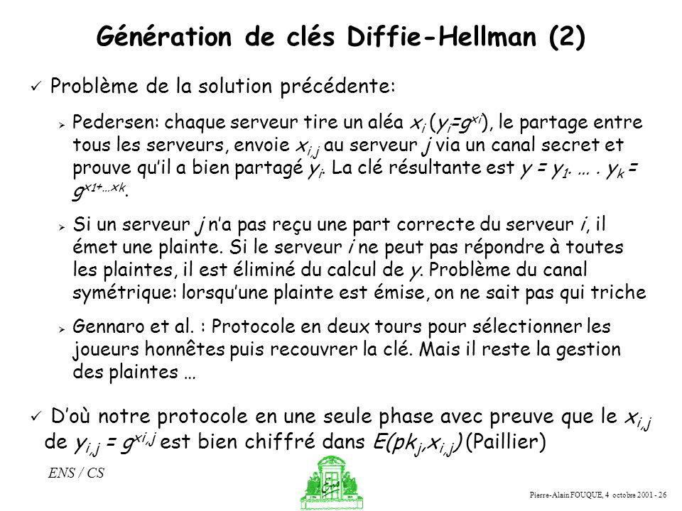 Génération de clés Diffie-Hellman (2)