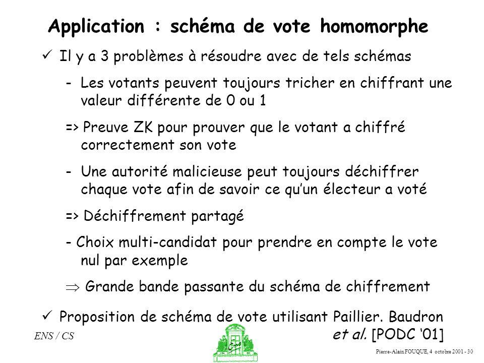 Application : schéma de vote homomorphe