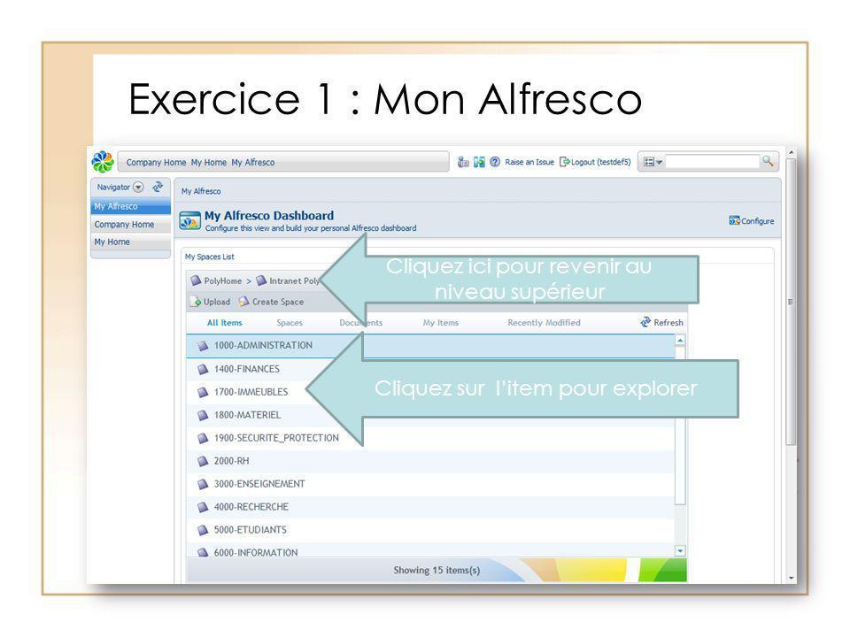 Exercice 1 : Mon Alfresco