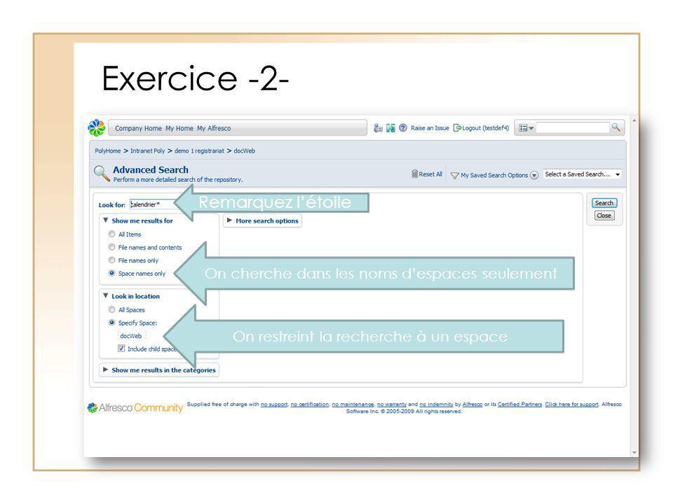 Exercice -2- Remarquez l'étoile