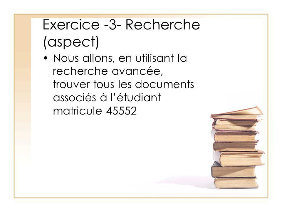 Exercice -3- Recherche (aspect)