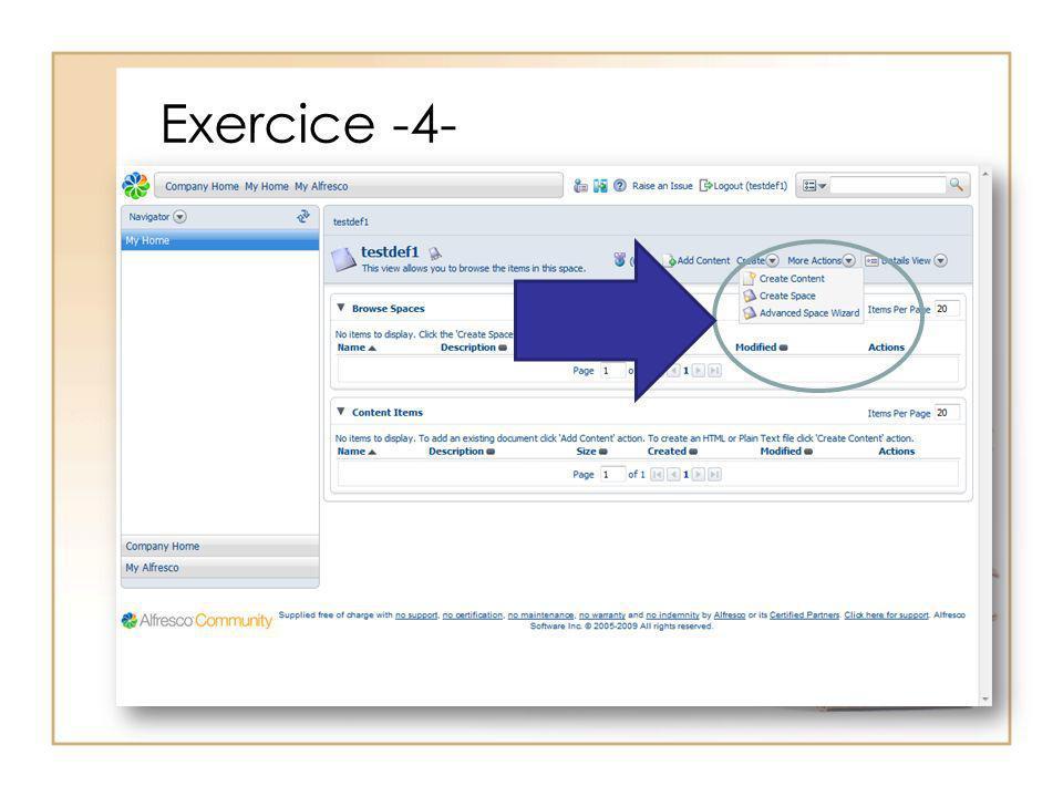 Exercice -4-