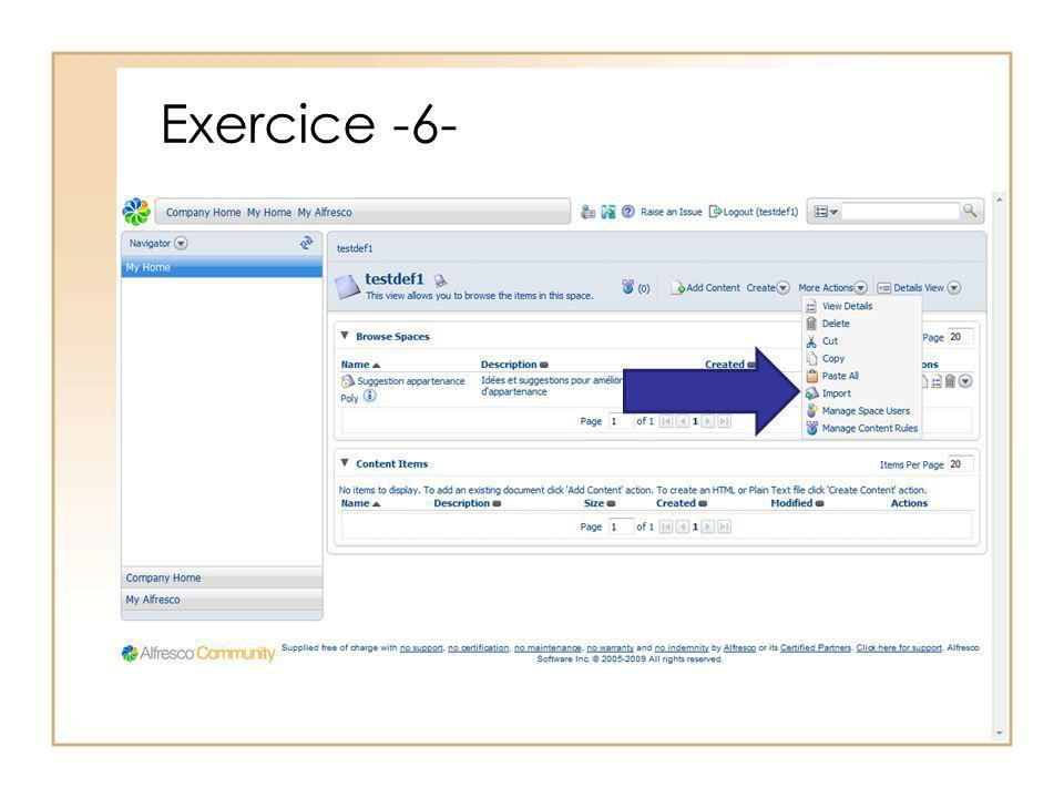 Exercice -6-