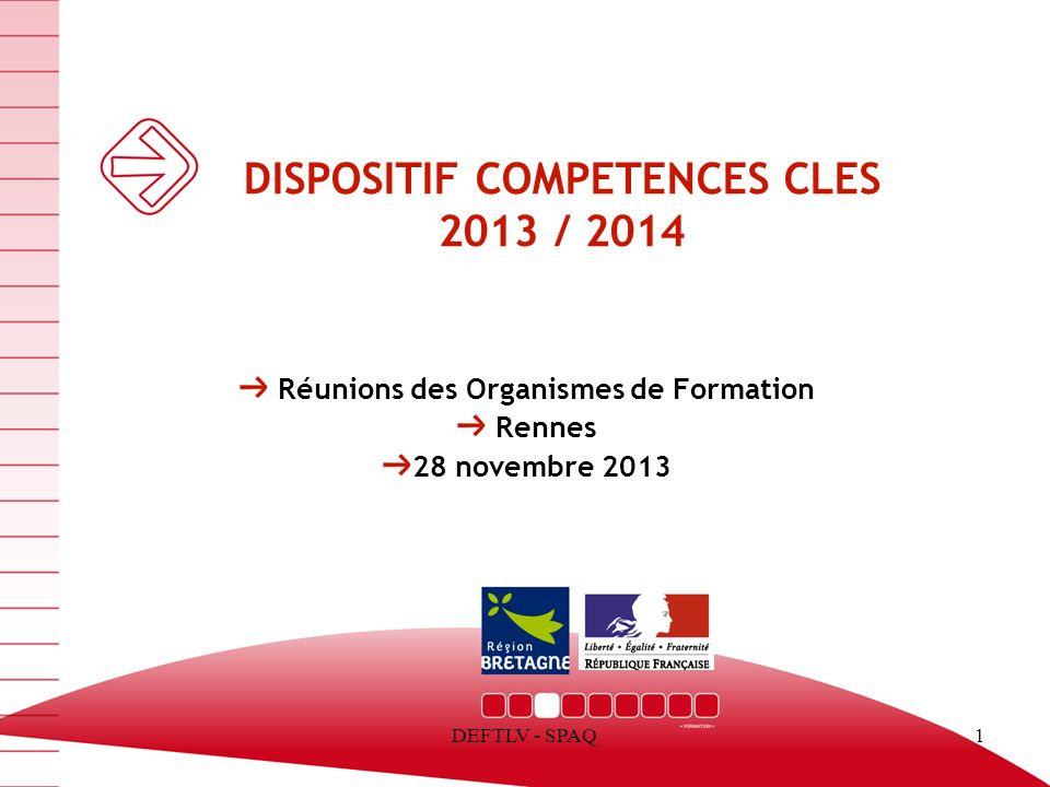 DISPOSITIF COMPETENCES CLES 2013 / 2014