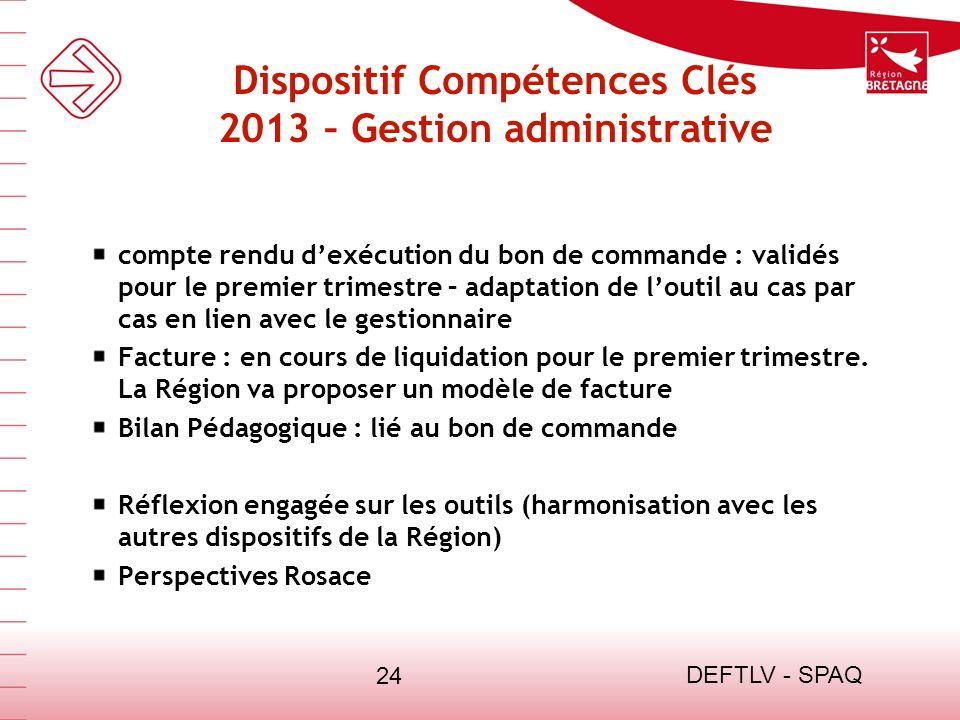 Dispositif Compétences Clés 2013 – Gestion administrative