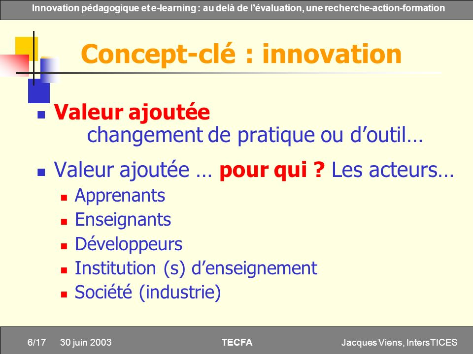 Concept-clé : innovation