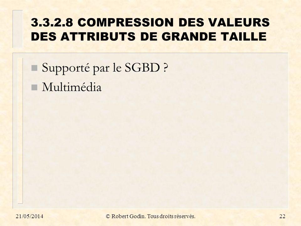 3.3.2.8 COMPRESSION DES VALEURS DES ATTRIBUTS DE GRANDE TAILLE