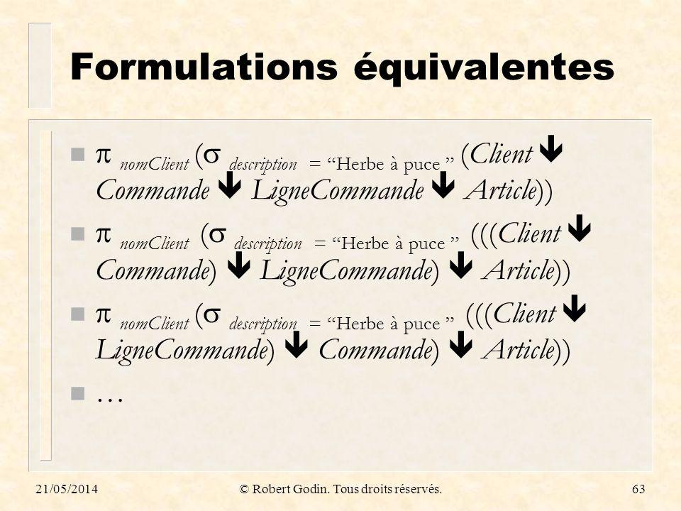 Formulations équivalentes