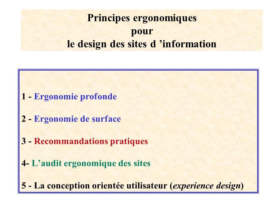 Principes ergonomiques pour le design des sites d 'information