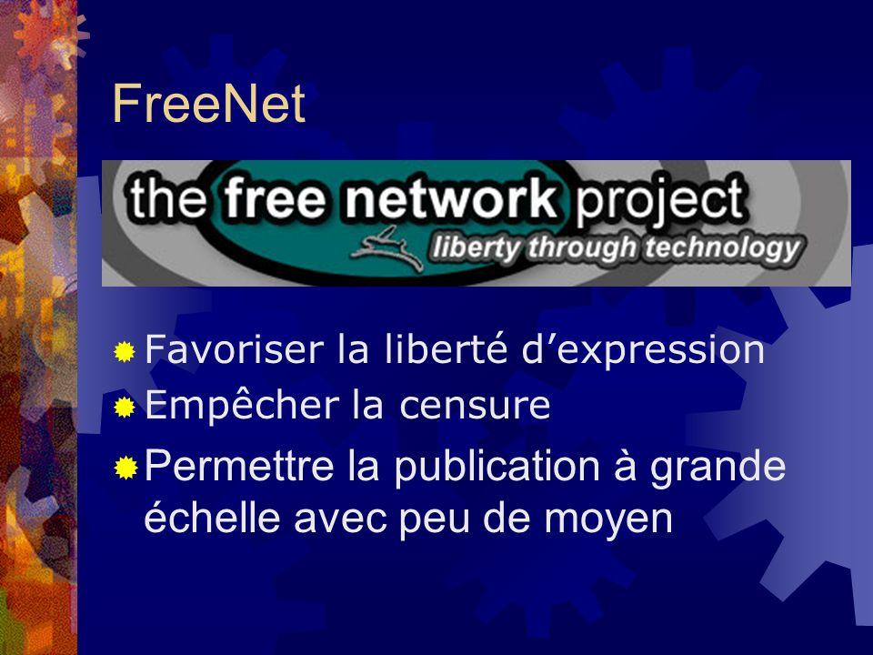 FreeNet Permettre la publication à grande échelle avec peu de moyen