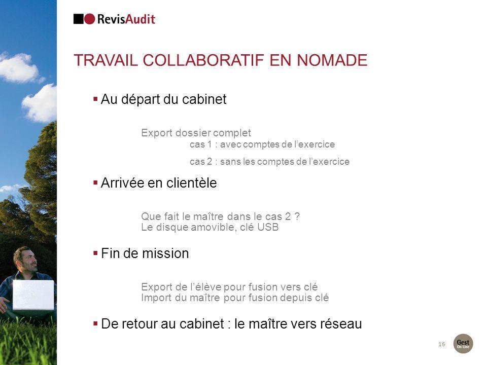 Travail collaboratif en nomade