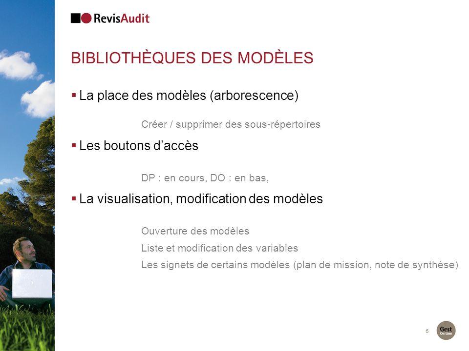 Bibliothèques des modèles