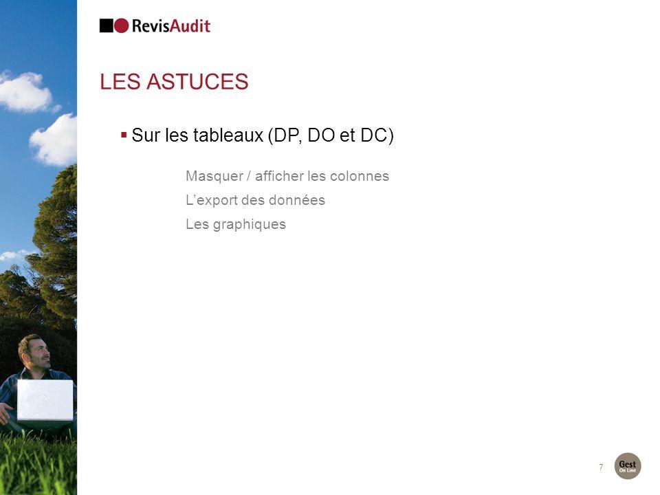 Les astuces Sur les tableaux (DP, DO et DC)