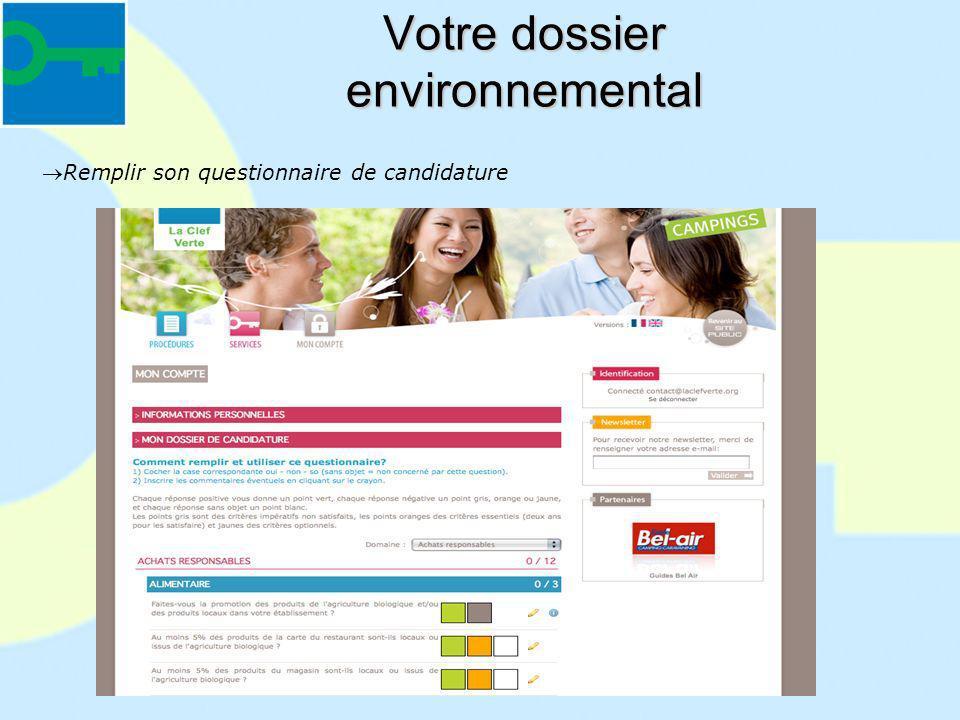 Votre dossier environnemental
