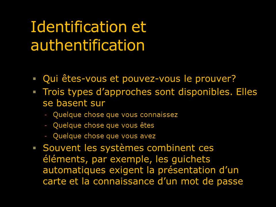 Identification et authentification