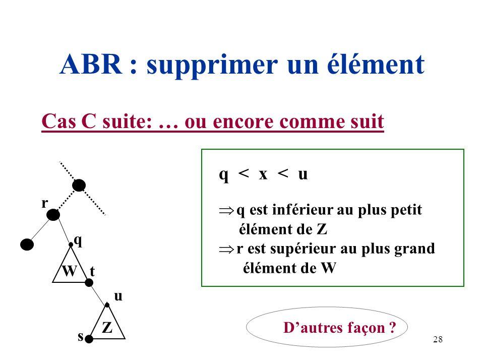 ABR : supprimer un élément