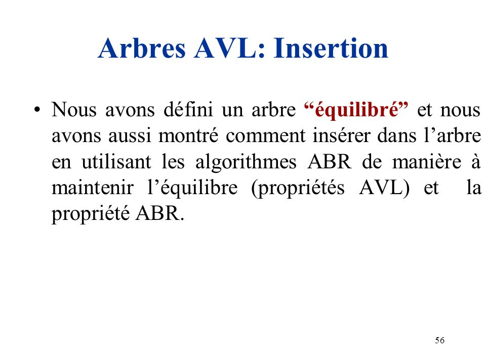 Arbres AVL: Insertion