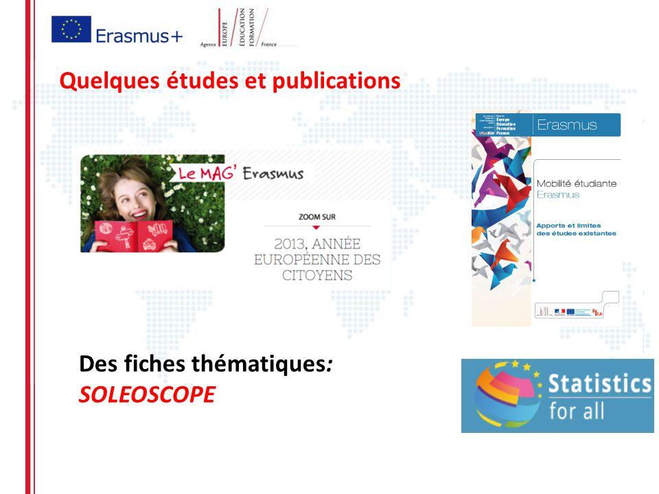 Quelques études et publications