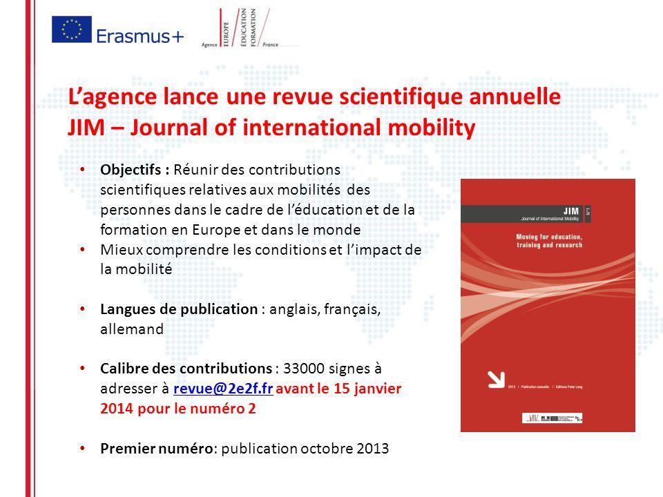 L'agence lance une revue scientifique annuelle