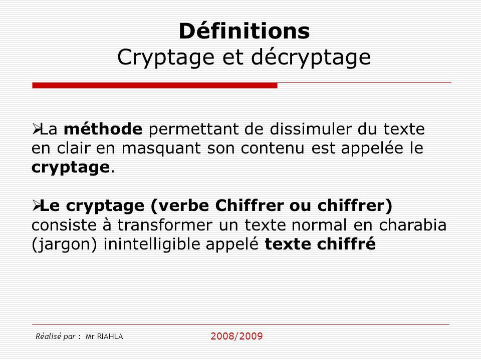 Cryptage et décryptage
