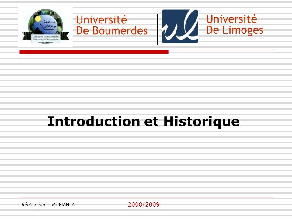 Introduction et Historique