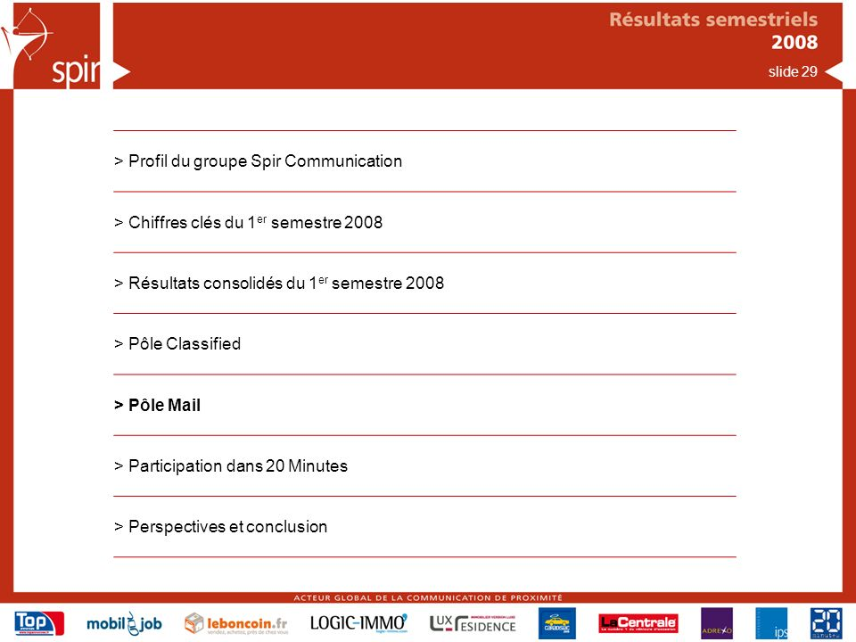 > Profil du groupe Spir Communication