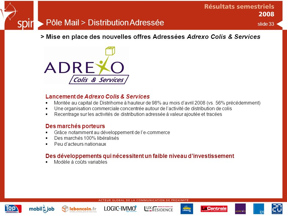 Pôle Mail > Distribution Adressée