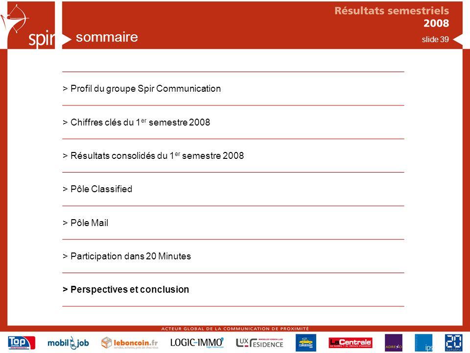 sommaire > Profil du groupe Spir Communication