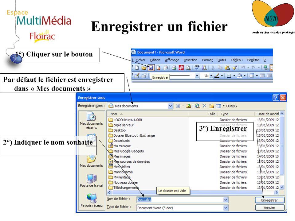 Enregistrer un fichier