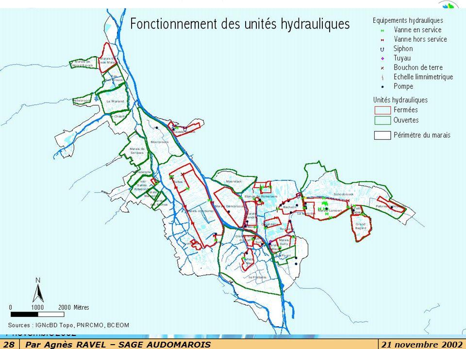 Les grands enjeux Les voies d eau dans le marais 7 novembre 2002