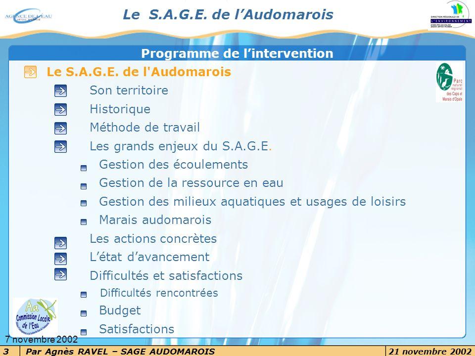 Le S.A.G.E. de l'Audomarois