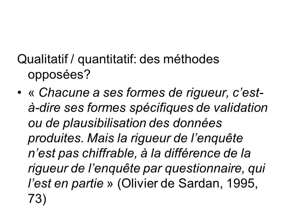 Qualitatif / quantitatif: des méthodes opposées