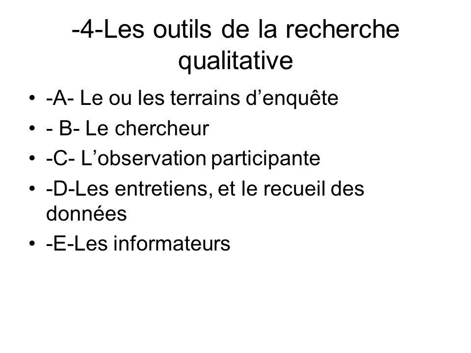 -4-Les outils de la recherche qualitative