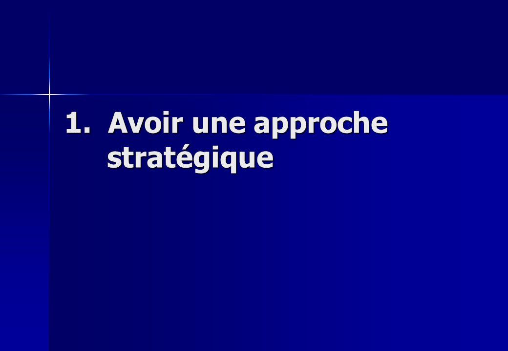 1. Avoir une approche stratégique