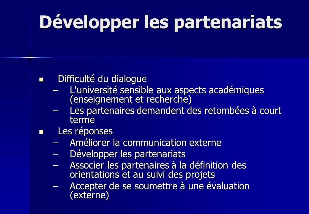 Développer les partenariats
