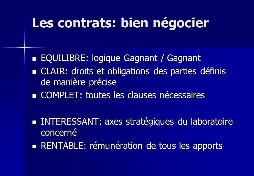 Les contrats: bien négocier