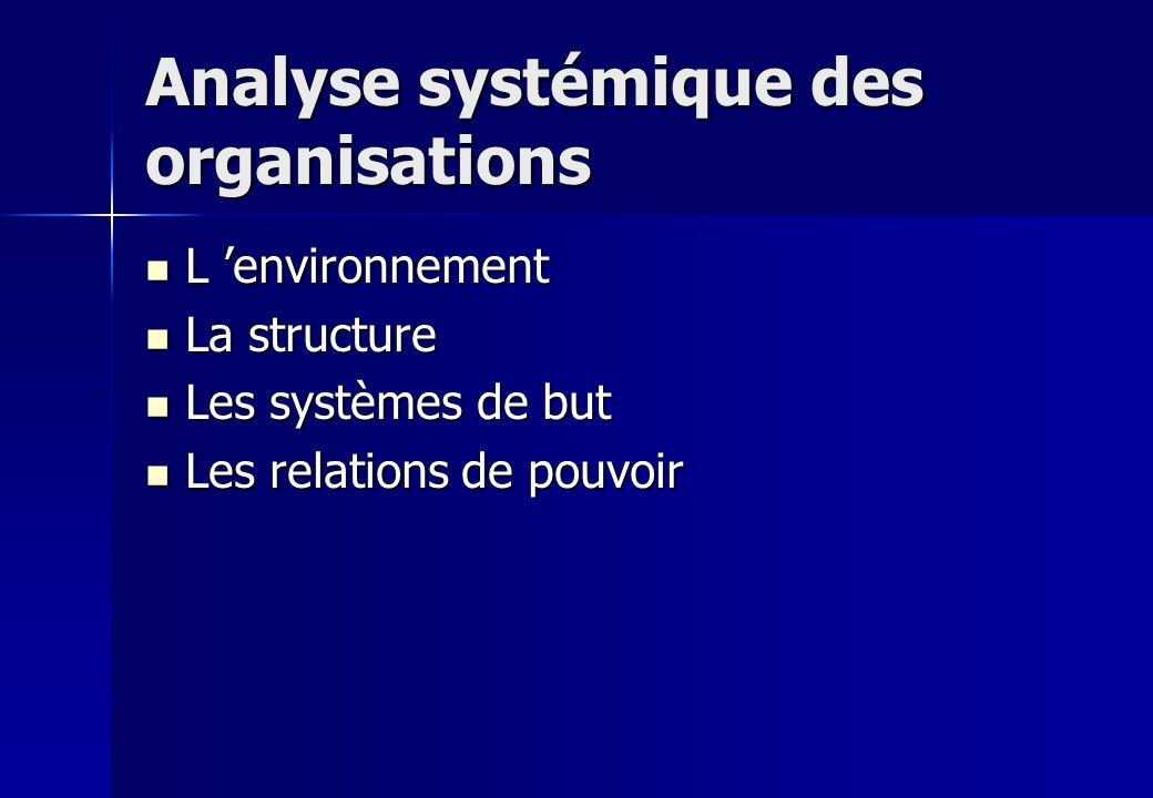 Analyse systémique des organisations