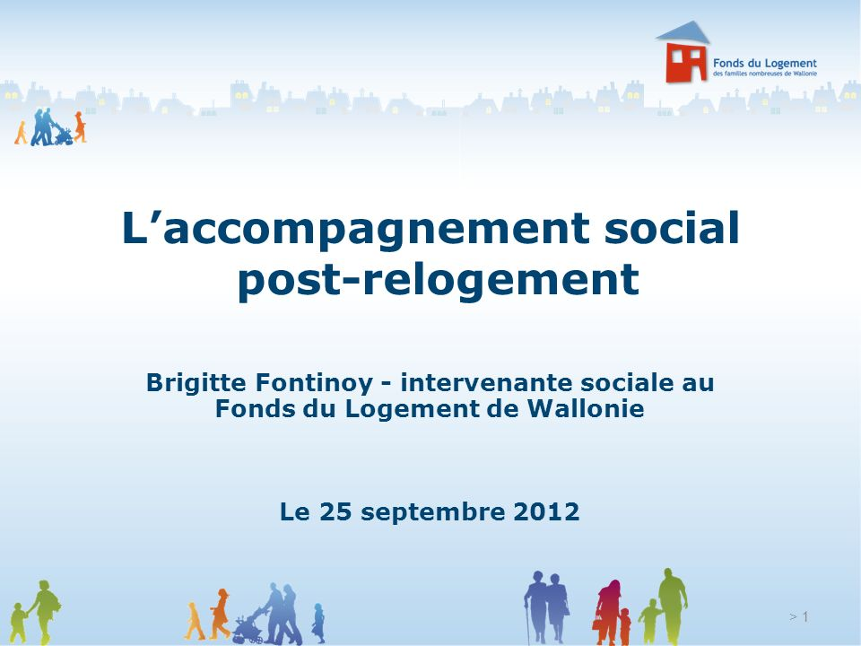L'accompagnement social post-relogement