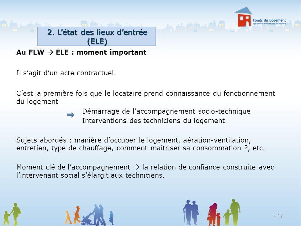 2. L'état des lieux d'entrée (ELE)