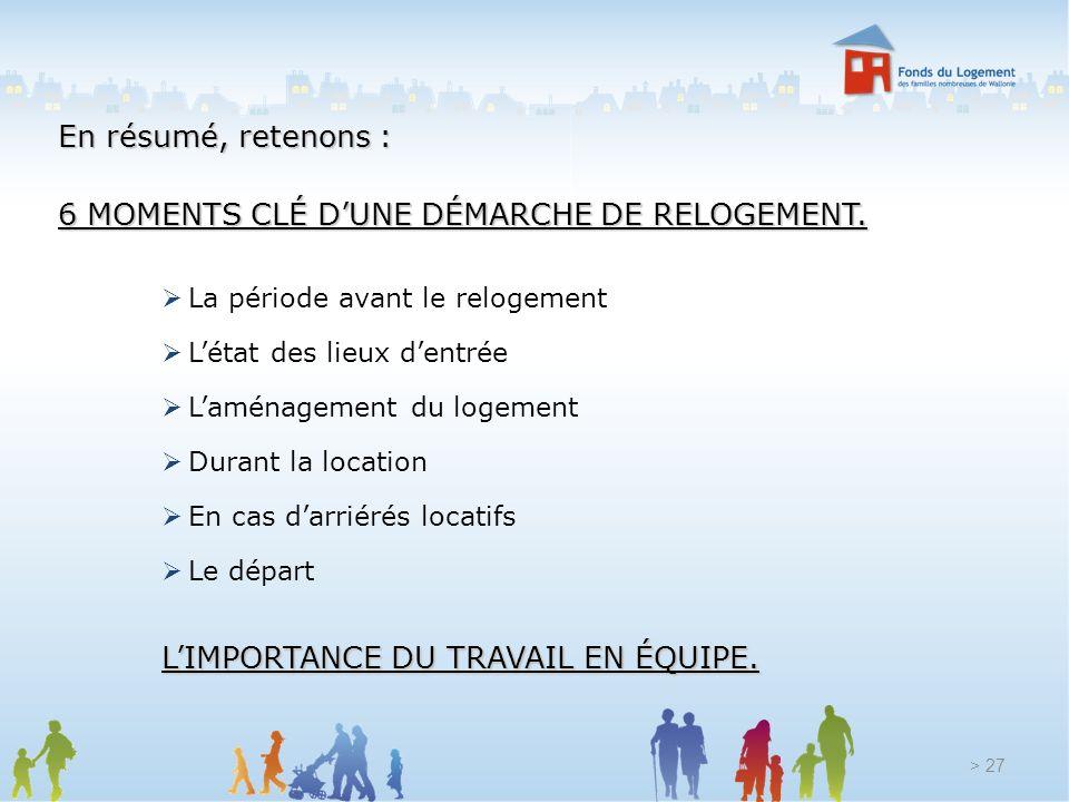 6 MOMENTS CLÉ D'UNE DÉMARCHE DE RELOGEMENT.