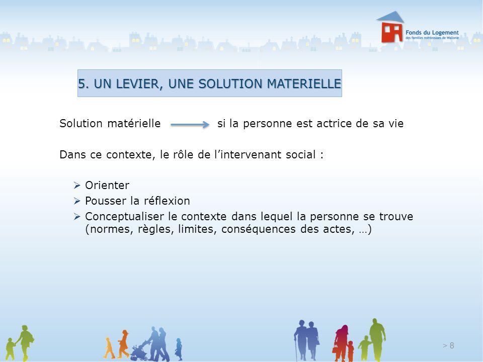 5. UN LEVIER, UNE SOLUTION MATERIELLE