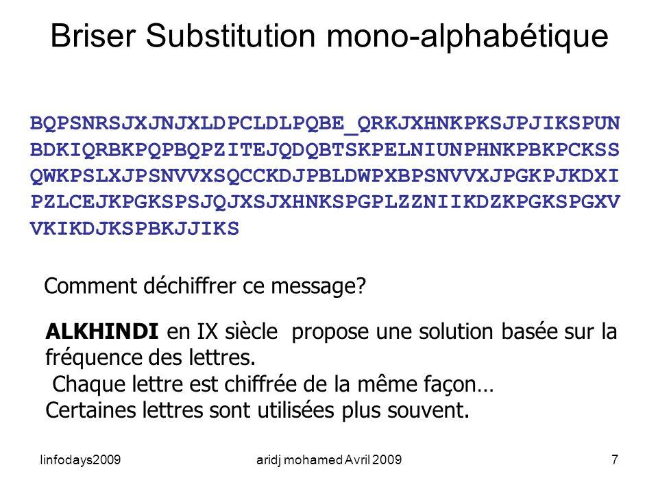 Briser Substitution mono-alphabétique