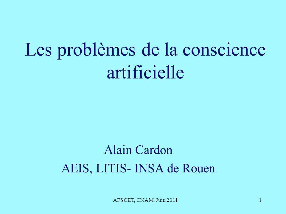 Les problèmes de la conscience artificielle