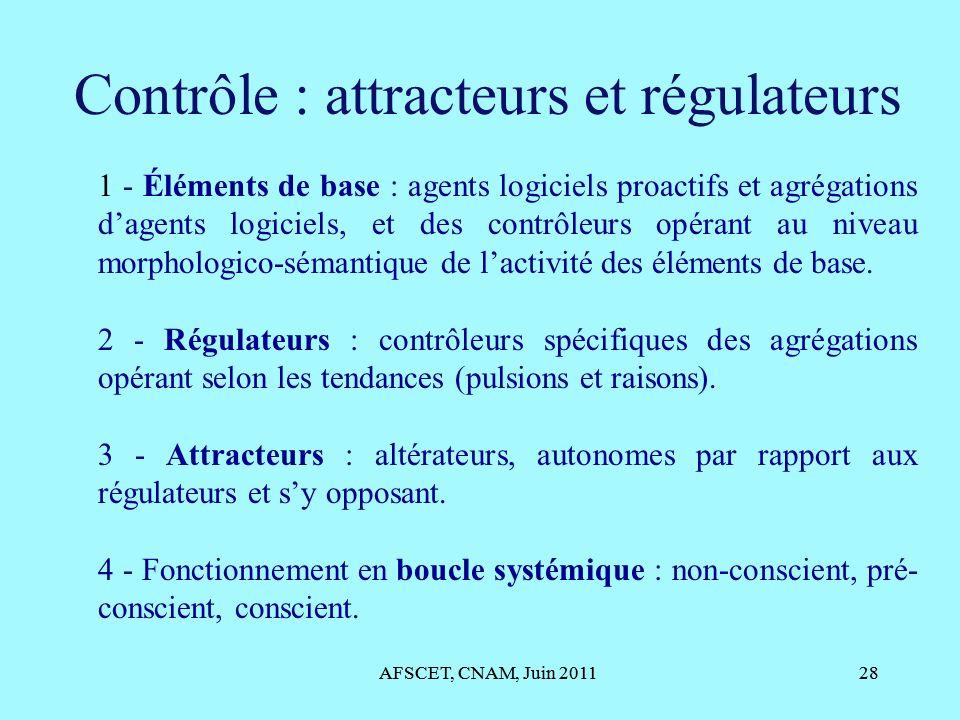 Contrôle : attracteurs et régulateurs
